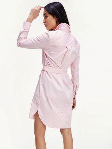 tommy-hilfiger-naisten-mekko-essential-shirt-dress-raidallinen-vaaleanpunainen-2
