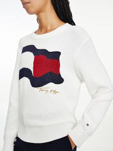 tommy-hilfiger-naisten-neule-org-co-flag-c-nk-sweater-valkoinen-1