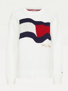 tommy-hilfiger-naisten-neule-org-co-flag-c-nk-sweater-valkoinen-2