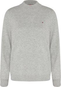 tommy-hilfiger-naisten-neule-sp-wool-cashmere-sweater-vaaleanharmaa-1