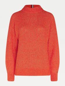 tommy-hilfiger-naisten-neulepaita-textured-stitch-sweater-oranssi-1