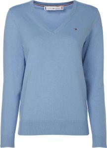 tommy-hilfiger-naisten-neulepaita-v-neck-sweater-vaaleansininen-1