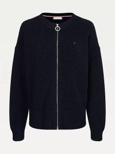 tommy-hilfiger-naisten-neuletakki-hayana-zip-cardigan-tummansininen-1