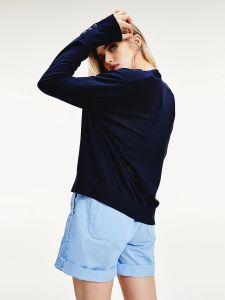 tommy-hilfiger-naisten-neuletakki-loua-cardigan-tummansininen-2
