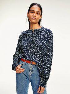 tommy-hilfiger-naisten-paita-raya-pop-over-blouse-sininen-kuosi-1
