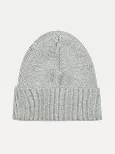 tommy-hilfiger-naisten-pipo-th-essential-knit-beanie-vaaleanharmaa-2