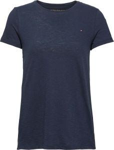 tommy-hilfiger-naisten-t-paita-heritage-crew-neck-tee-tummansininen-1