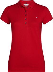 tommy-hilfiger-naisten-t-paita-heritage-short-sleeve-slim-polo-kirkkaanpunainen-1