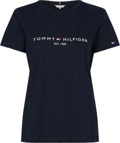 tommy-hilfiger-naisten-t-paita-new-th-ess-hilfiger-tee-tummansininen-1