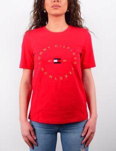 tommy-hilfiger-naisten-t-paita-regular-circle-tee-ss-kirkkaanpunainen-1