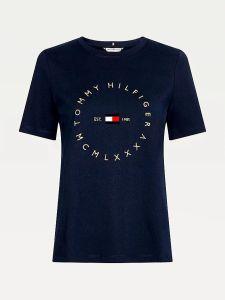 tommy-hilfiger-naisten-t-paita-regular-circle-tee-ss-tummansininen-1