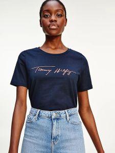 tommy-hilfiger-naisten-t-paita-regular-script-open-nk-tee-ss-tummansininen-2