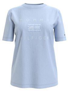 tommy-hilfiger-naisten-t-paita-regular-tonal-tee-ss-vaaleansininen-1