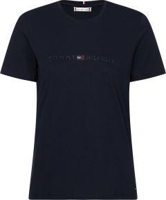 tommy-hilfiger-naisten-t-paita-tiara-regular-tummansininen-1