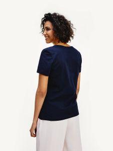 tommy-hilfiger-naisten-t-paita-tiara-regular-tummansininen-2