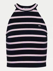 tommy-hilfiger-naisten-toppitjw-crop-striped-punto-top-raidallinen-musta-1