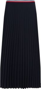 tommy-hilfiger-naisten-vekkihame-crepe-pleated-midi-skirt-tummansininen-1