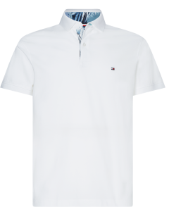tommy-hilfiger-pikeepaita-printed-placket-slim-polo-valkoinen-1