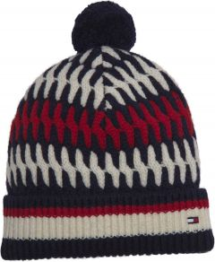 tommy-hilfiger-pipo-tailored-cable-beanie-punainen-kuosi-1