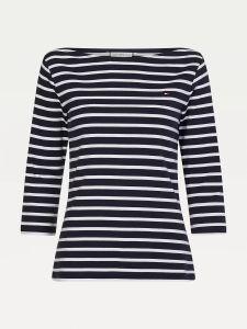 tommy-hilfiger-t-paita-slim-boat-neck-top-raidallinen-sininen-1