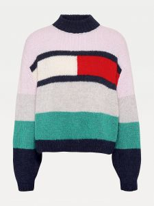 tommy-jeans-girls-naisten-neule-bell-sleeve-flag-sweather-monivarinen-kuosi-1