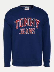 tommy-jeans-miesten-college-plaid-tommy-graphic-crew-tummansininen-1