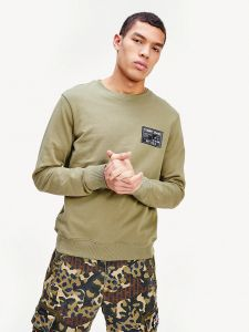 tommy-jeans-miesten-collegepusero-black-label-crew-armeijanvihrea-10