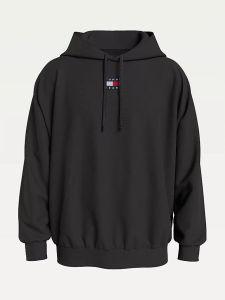 tommy-jeans-miesten-huppari-badge-hoodie-musta-1