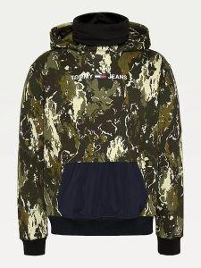 tommy-jeans-miesten-huppari-tech-hoodie-armeijanvihrea-2