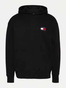 tommy-jeans-miesten-huppari-tommy-badge-hoodie-musta-1
