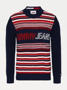 tommy-jeans-miesten-neule-ad-structure-mix-sweater-raidallinen-punainen-1