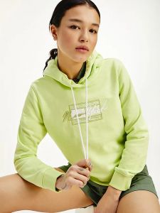 tommy-jeans-naisten-huppari-tjw-cropped-tommy-flag-hoodie-limenvihrea-2