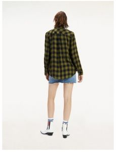 tommy-jeans-naisten-kauluspaita-tjw-soft-check-shirt-vihrea-ruutu-2