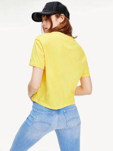tommy-jeans-naisten-t-paita-modern-lineat-logo-tee-kirkkaankeltainen-2