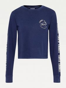 tommy-jeans-naisten-t-paita-tjw-crop-tape-ls-tee-tummansininen-1