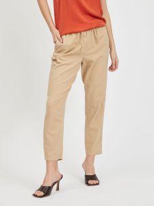 vila-naisten-housut-visiliana-7-8-pants-noos-vaalea-beige-1