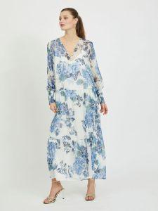 vila-naisten-maximekko-viviola-o-neck-ls-ankle-dress-valkopohjainen-kuosi-1