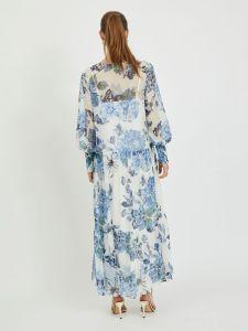 vila-naisten-maximekko-viviola-o-neck-ls-ankle-dress-valkopohjainen-kuosi-2