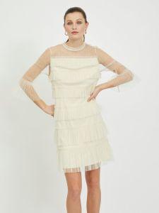 vila-naisten-mekko-viselma-o-neck-3-4-dress-luonnonvalkoinen-1
