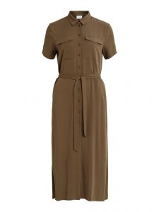 vila-naisten-mekko-visuvita-ss-ancle-shirt-dress-armeijanvihrea-1