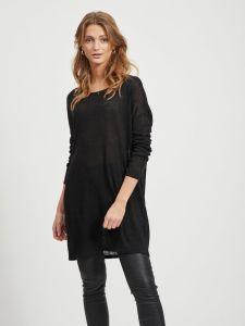 vila-naisten-neule-vifilak-knit-ls-oversize-tunic-musta-1