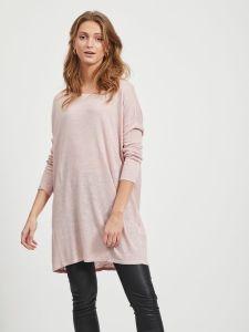 vila-naisten-neule-vifilak-knit-ls-oversize-tunic-vaaleanpunainen-1
