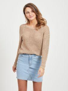 vila-naisten-neule-vilelas-knit-ls-o-neck-vaalea-beige-1
