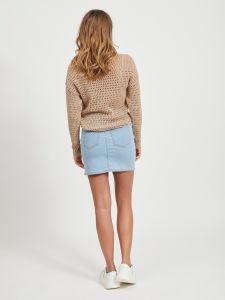 vila-naisten-neule-vilelas-knit-ls-o-neck-vaalea-beige-2