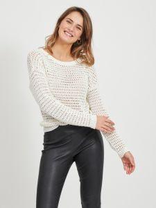 vila-naisten-neule-vilelas-knit-ls-o-neck-valkoinen-1