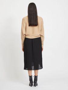 vila-naisten-neulepaita-elasta-knit-beige-2