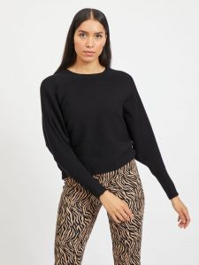 vila-naisten-neulepaita-elasta-knit-musta-1