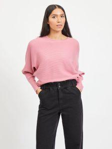 vila-naisten-neulepaita-elasta-knit-vaaleanpunainen-1