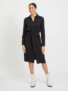 vila-naisten-paitamekko-vidania-belt-ls-shirt-dress-musta-1