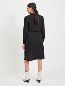 vila-naisten-paitamekko-vidania-belt-ls-shirt-dress-musta-2